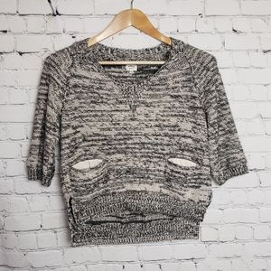 Wilfred Aritzia Gray Cropped Sweater y2k Trendy